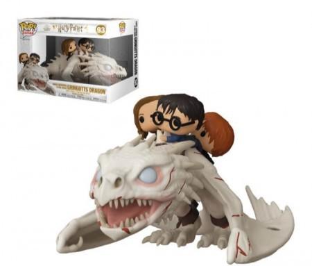PRÉ VENDA: Funko Pop! Harry Potter, Hermione e Ron Weasley no Dragão Gringotes (Gringotts Dragon): Harry Potter (Exclusive) #93 - Funko