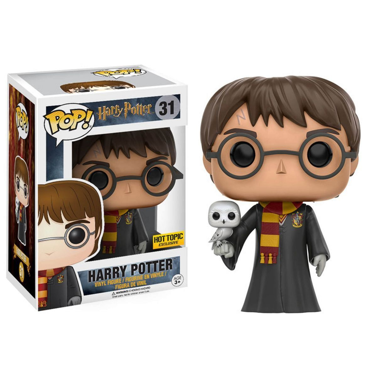 Funko Pop! Harry Potter com Coruja (with Hedwig): Harry Potter Exclusivo Hot Topic #31 - Funko