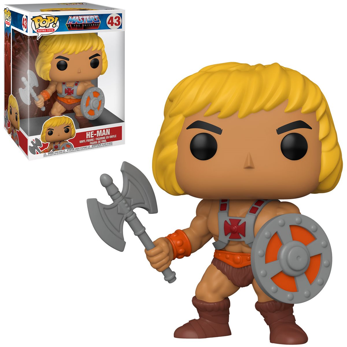 PRÉ VENDA: Funko Pop! He-Man: Mestres do Universo (Masters of the Universe) 10'' #43  - Funko