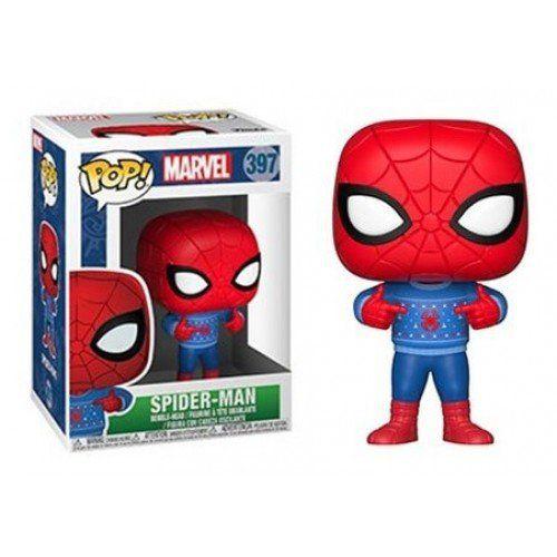 Funko Pop! Homem-Aranha (Spider-Man Holiday): Marvel #397 - Funko