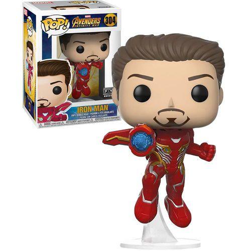 Pop! Homem de Ferro (Iron Man): Vingadores Guerra Infinita (Avengers Infinity War) Exclusivo #304 - Funko