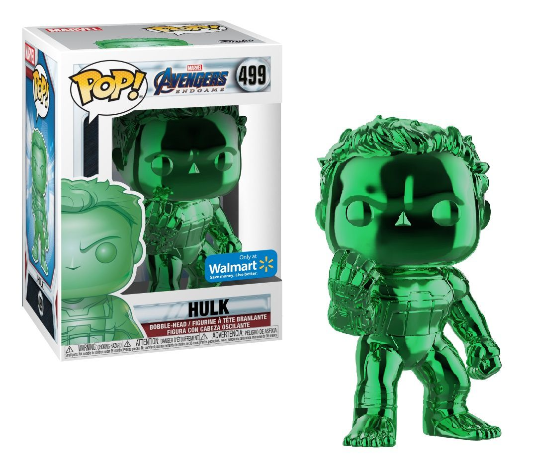 Pop! Hulk (Green Chrome): Vingadores Ultimato (Avengers Endgame) Exclusivo #499 - Funko (Apenas Venda Online)