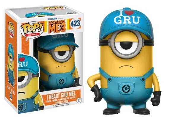Pop I Heart Gru Minion (Exclusivo): Meu Malvado Favorito 3 #423 - Funko