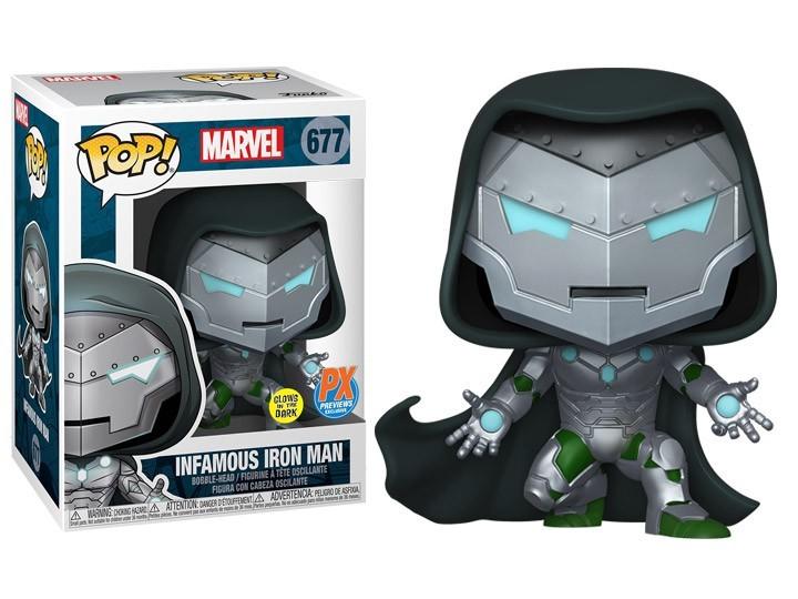 Funko Pop! Infamous Iron Man: (Edição Limitada PX) Marvel: #677 - Funko