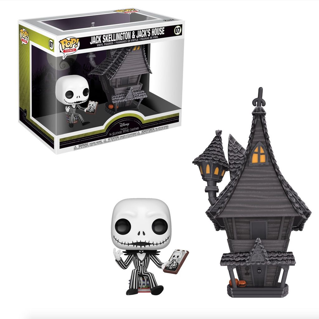 Pop! Jack Skellington & Jack's House: O Estranho Mundo de Jack (Nightmare Before Christmas) Exclusivo #07 - Funko