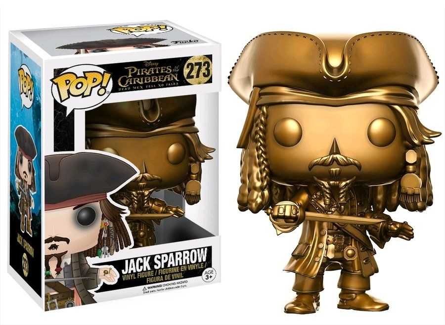 Pop Jack Sparrow (Gold): Piratas do Caribe: A Vingança de Salazar (Exclusivo) #273 - Funko