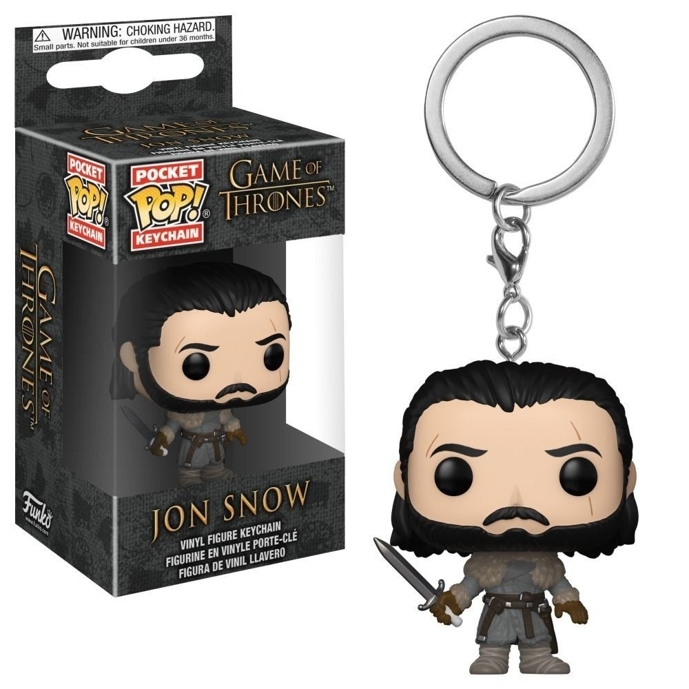 Funko Pop! Keychains Jon Snow ( Beyond The Wall )- Game of Thrones - Funko
