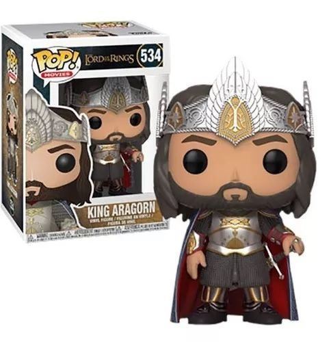 Funko Pop! King Aragorn: O Senhor dos Anéis (The Lord Of The Rings) Exclusivo #534 - Funko
