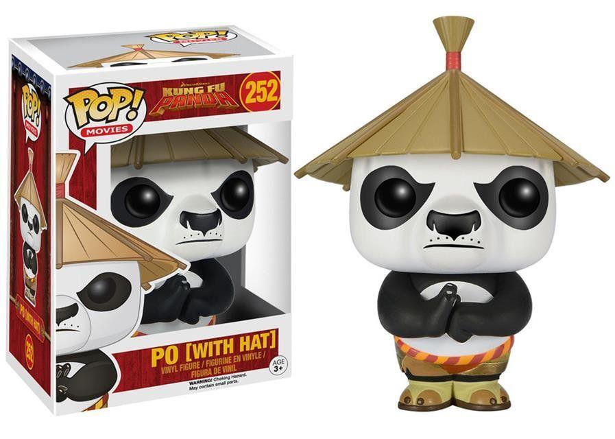 Funko Pop Po com Chapéu: Kung Fu Panda #252 - Funko