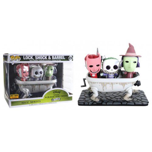 Pop! Lock, Shock & Barrel: O Estranho Mundo de Jack (Nightmare Before Christmas) Exclusivo #474 - Funko