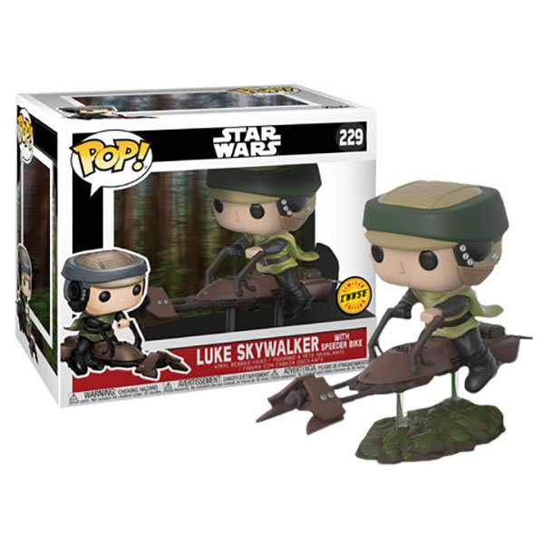 Pop! Luke Skywalker (Speeder Bike)(Chase): Star Wars (Exclusivo) #229 - Funko