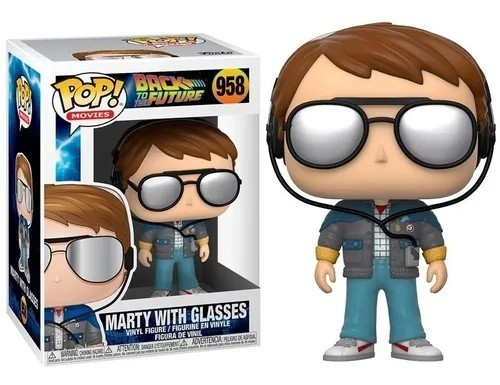 Funko Pop! Marty McFly de Óculos Escuro (Sunglasses): De Volta Para o Futuro (Back to the Future) #958 - Funko