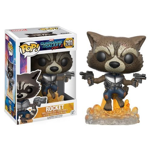 Funko Pop Rocket Raccoon: Guardiões da Galáxia Vol. 2 #201 - Funko