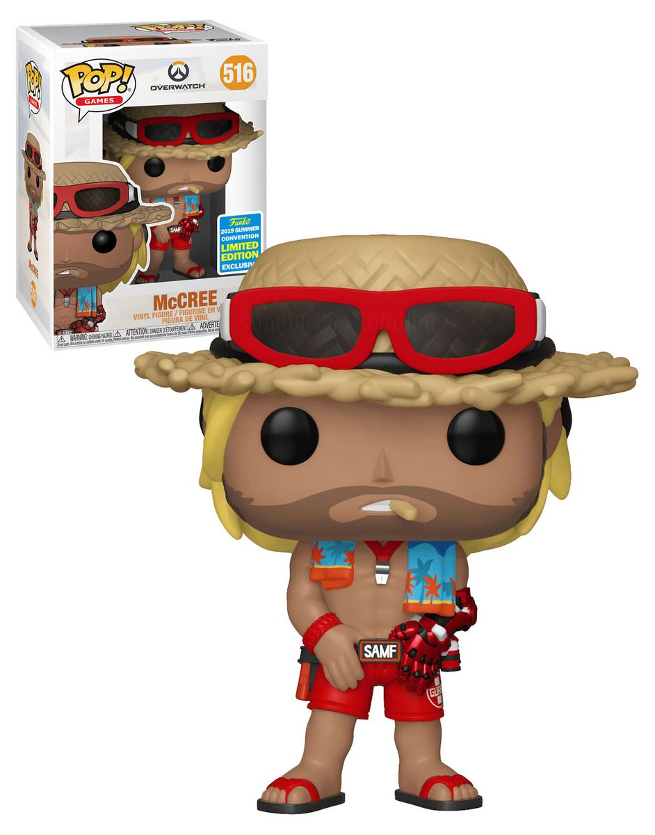 Pop! McCree (Summer Skin): Overwatch (Exclusivo SDCC) #516 - Funko
