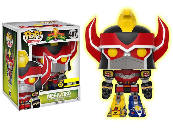 Pop! Megazord (Glow in The Dark): Power Rangers (Exclusivo) #497 - Funko