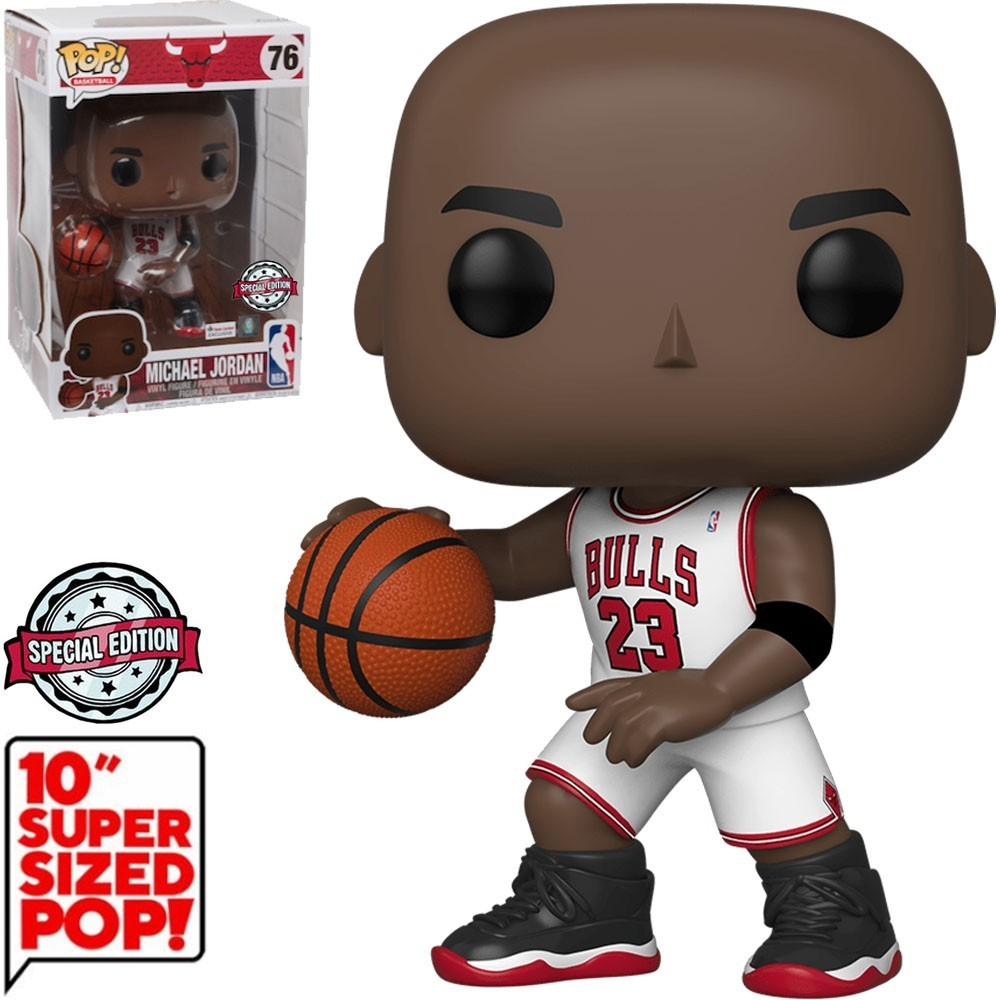 Funko Pop! Michael Jordan: Chicago Bulls (NBA) Exclusivo (Super Sized 10