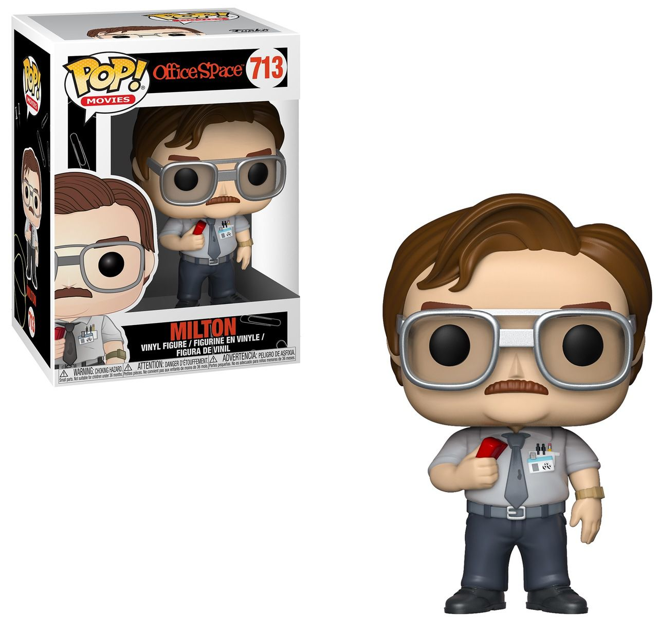Funko Pop! Milton Waddams: Como Enlouquecer Seu Chefe (Office Space) #713 - Funko