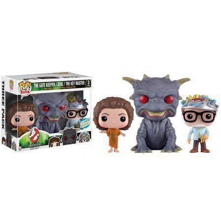 POP Movies: Classic Ghostbusters Pack 3 The Gatekeeper, Zuul, The Key Master - Exclusivo