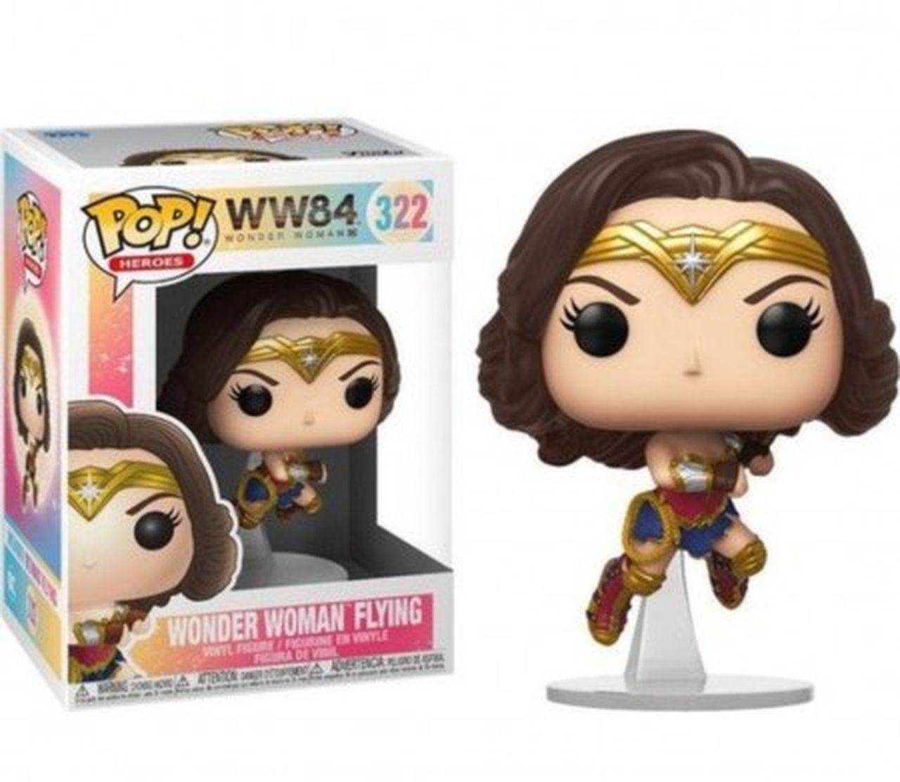 Funko Pop! Mulher-Maravilha Voando (Wonder Woman Flying): Mulher-Maravilha 1984 (Wonder Woman 1984) #322 - Funko