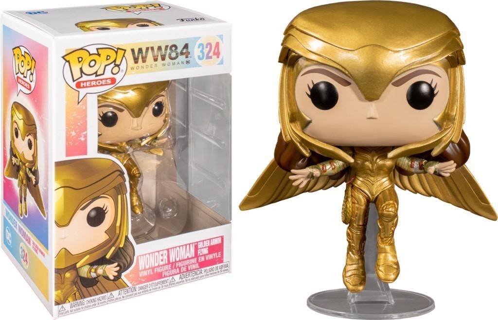 Funko Pop! Mulher-Maravilha Voo de Armadura Dourada (Golden Armor Flying): Mulher-Maravilha 1984 (Wonder Woman 1984) #324 - Funko