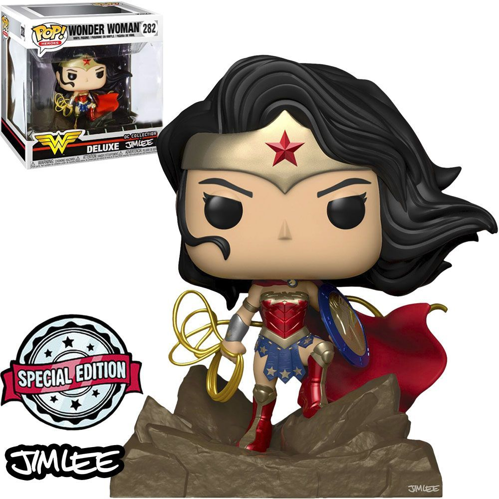 Funko Pop! Mulher-Maravilha (Wonder Woman): Dc Collection (Exclusive Jim Lee) #282 - Funko