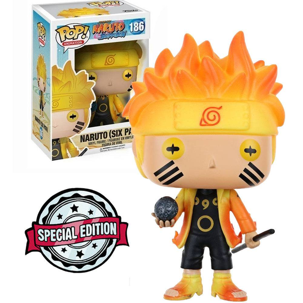 Pop! Naruto (Six Path): Naruto Shippuden (Exclusivo) #186 - Funko