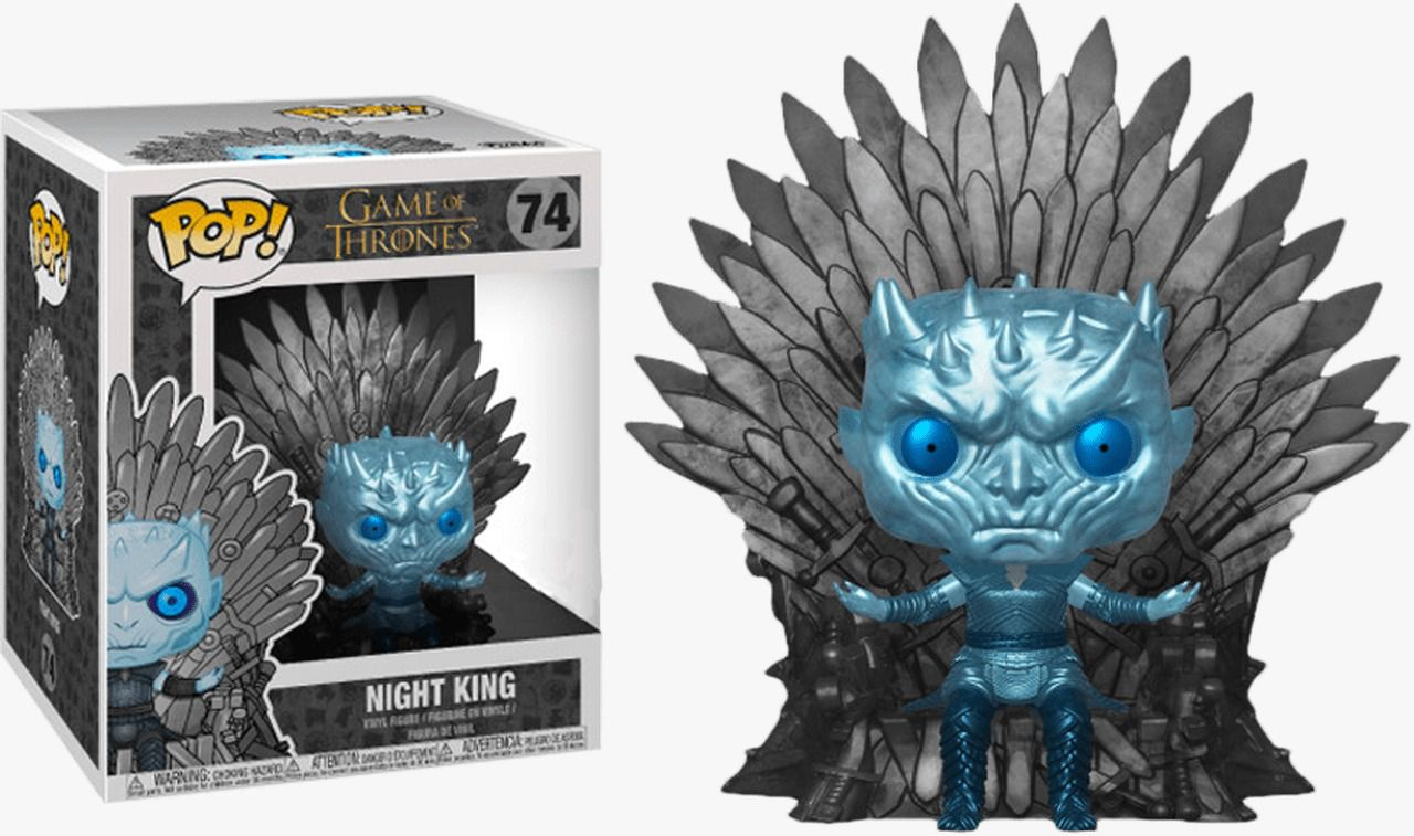 Pop! Night King (on Iron Throne) Metálico: Game of Thrones (Exclusivo) #74 - Funko