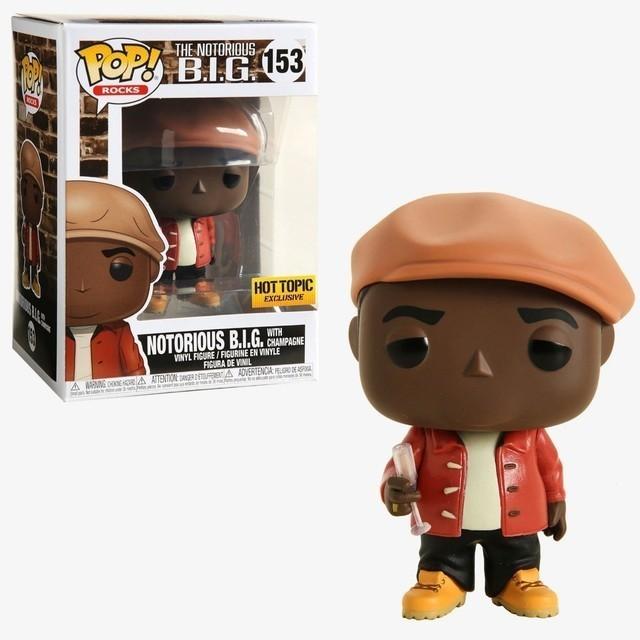 Funko Pop! Notorious B.I.G.( Biggie W/Champagne ) Edição Especial: Rocks #153 - Funko