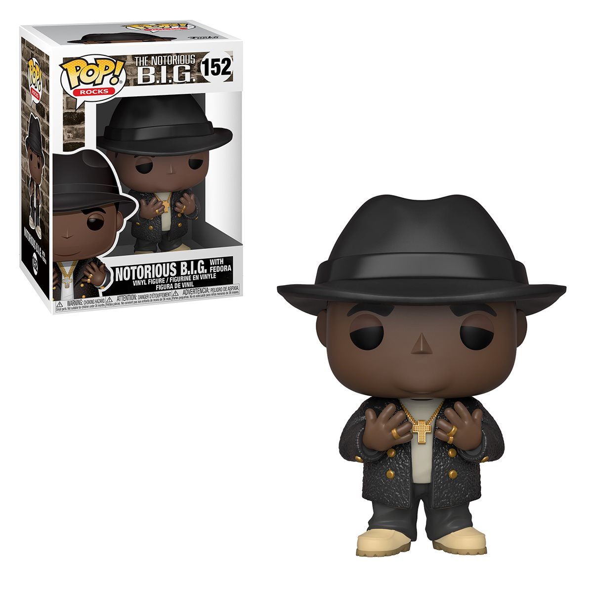 Funko Pop! Notorious B.I.G.( Biggie W/Fedora ): Rocks #152 - Funko