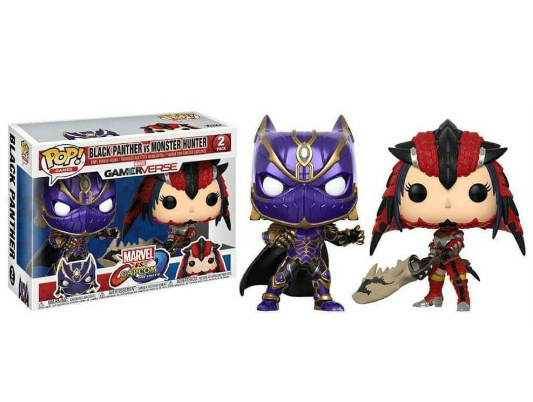 Funko Pop! Pack Black Panther Vs Monster Hunter: Marvel Vs Capcom Infinite #02 - Funko