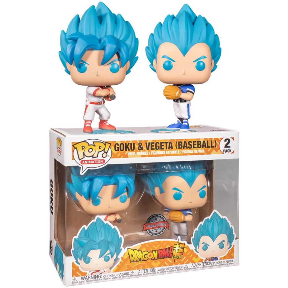 Pop! Pack Goku e Vegeta (Baseball): Dragon Ball Super (Exclusivo) #2 - Funko