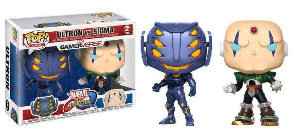 Funko Pop! Pack Ultron vs Sigma: Marvel vs Capcom Infinite #02 - Funko (Apenas Venda Online)