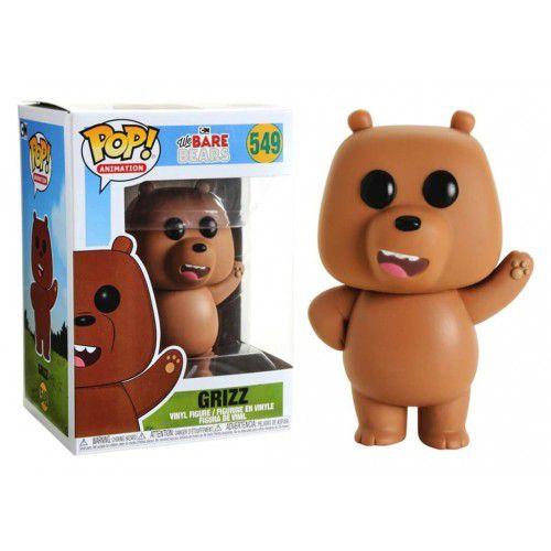 Funko Pop! Pardo (Grizz): Ursos sem Curso (We Bare Bears) #549 - Funko