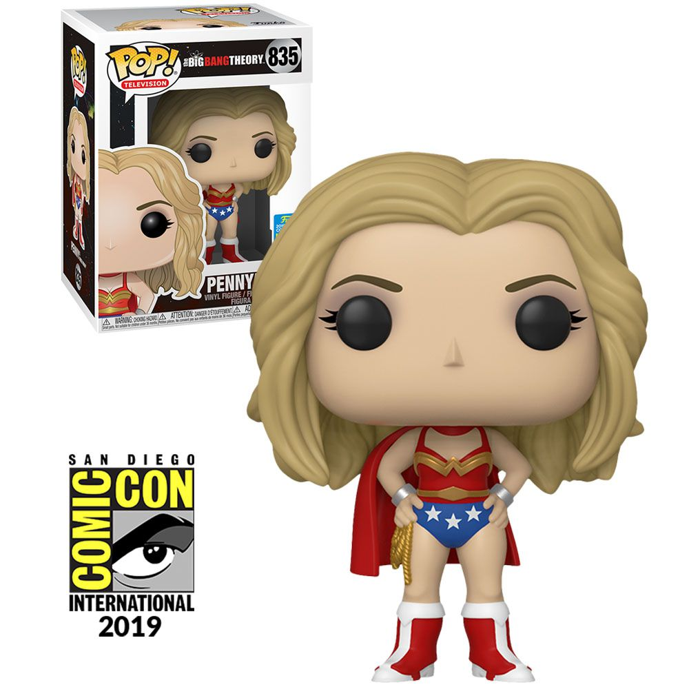 Pop! Penny (As Wonder Woman): Big Bang Theory (Exclusivo SDCC) #835 - Funko
