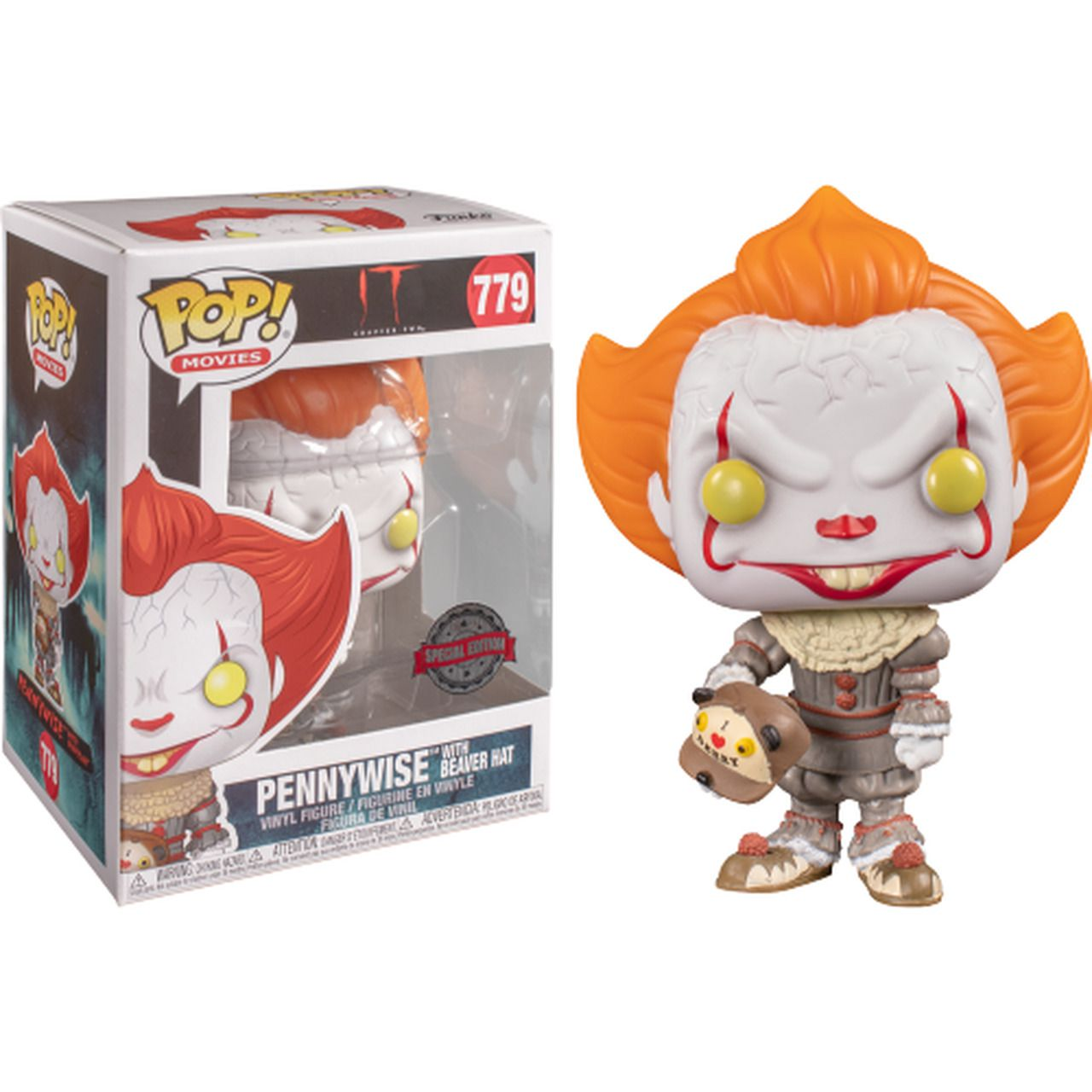 Pop! Pennywise (With Beaver Hat): It Chapter II (Exclusivo) #779 - Funko