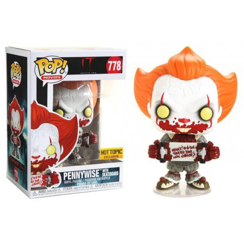 Pop! Pennywise (With Skateboard): It Chapter 2 (Exclusivo) #778 - Funko (Apenas Venda Online)
