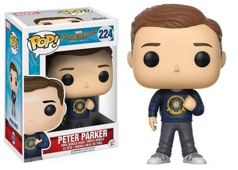 Funko Pop Peter Parker: Homem-Aranha De Volta ao Lar (Spider-Man Homecoming) #224 - Funko
