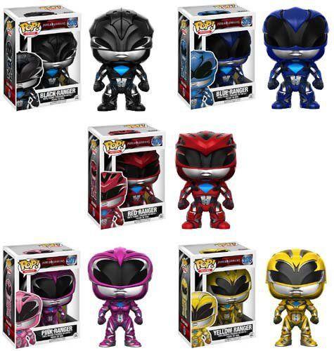 PRÉ VENDA: Funko Pop! Power Rangers the Movie Pack Set 5 Figuras - Funko