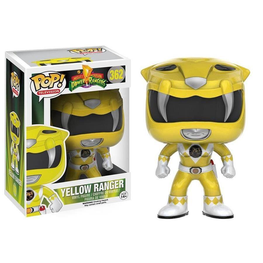 Funko Pop Yellow Ranger (Ranger Amarelo): Power Rangers #362 -  Funko Black Friday -Funko