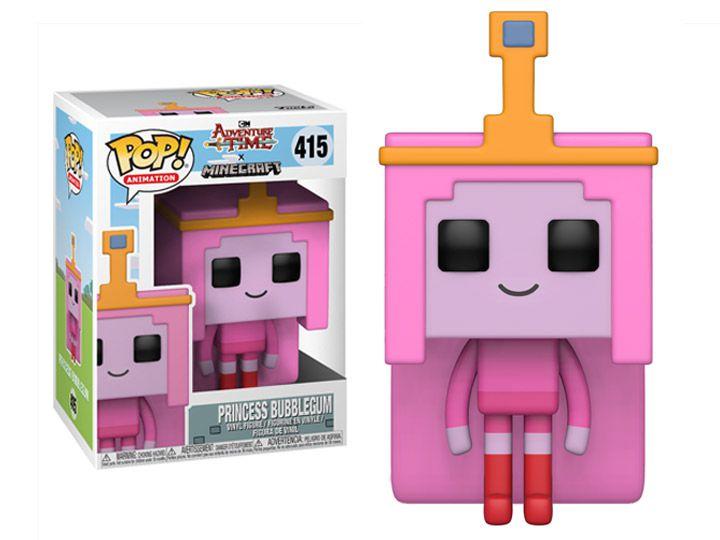 Funko Pop! Princesa Jujuba (Princess Bubblegum): Adventure Time x Minecraft #415 - Funko (Apenas Venda Online)