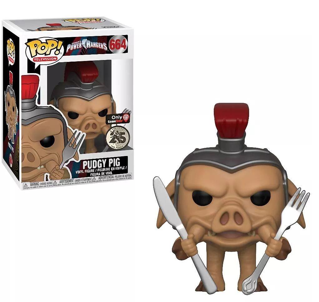 Funko Pop! Pudgy Pig: Power Rangers (25 Anos) #664 - Funko (Apenas Venda Online)