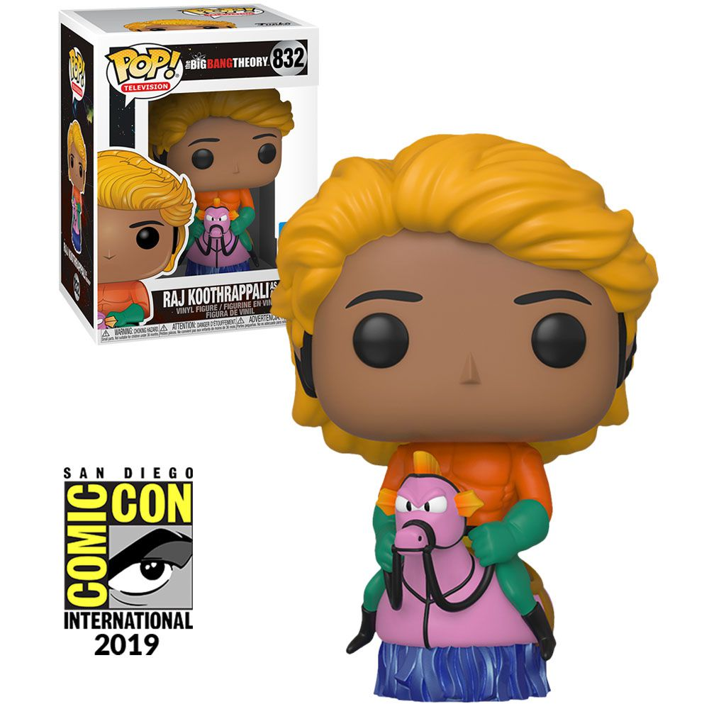 Funko Pop! Raj (As Aquaman): The Big Bang Theory (Exclusivo SDCC) #832 - Funko