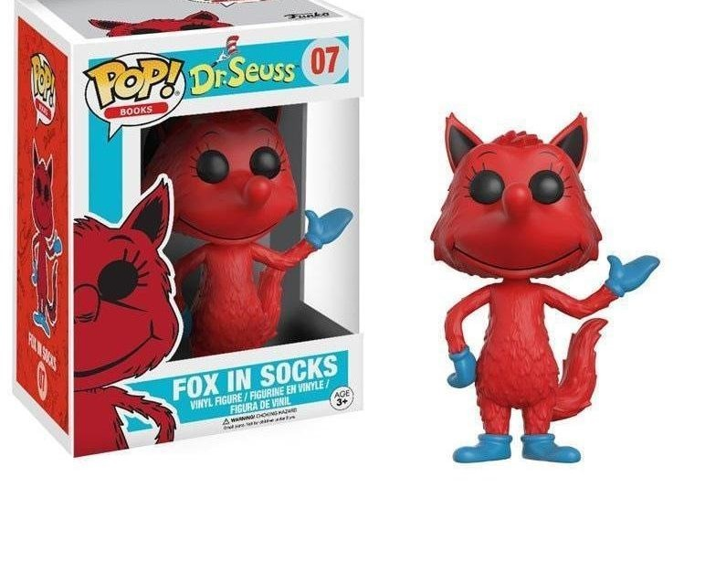 Funko Pop Raposa de Meia (Fox in Socks): Dr. Seuss  #07 - Funko