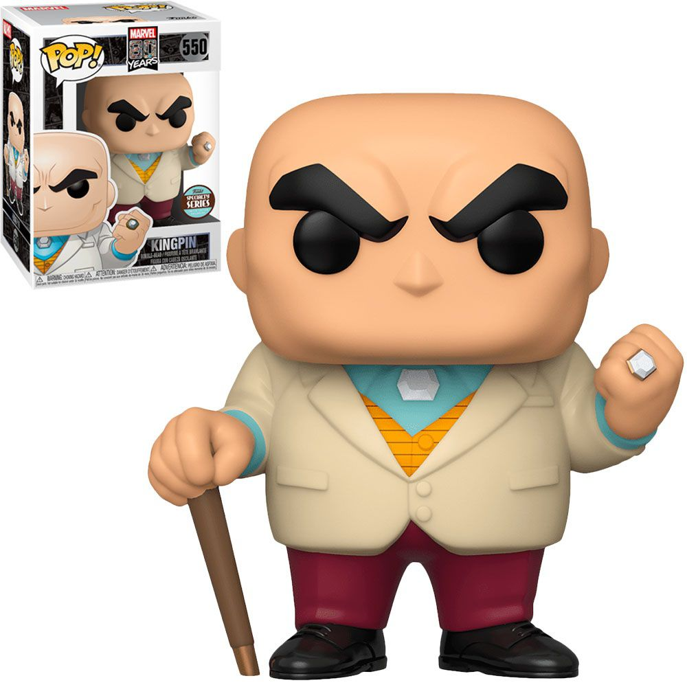 Pop! Rei do Crime (Kingpin): Marvel 80th Anniversary (Exclusivo) #550 - Funko