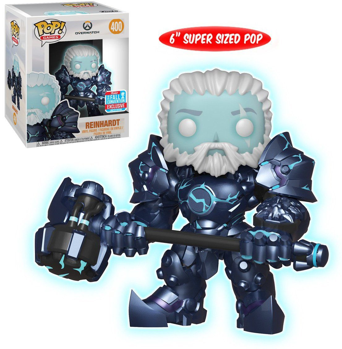Pop Reinhardt (GITD): Overwatch #400 (NYCC 2018 Exclusivo) - Funko