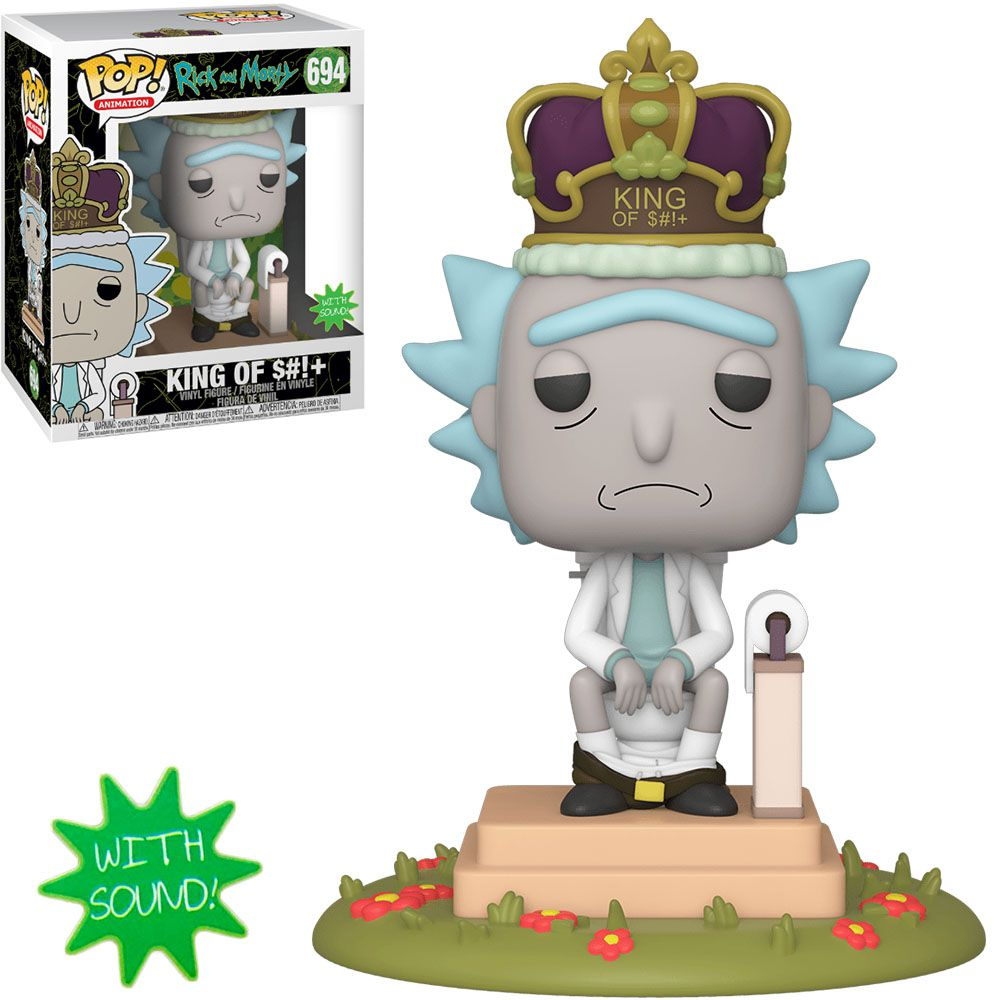Funko Pop! Rick (King of Shit): Rick & Morty (Deluxe With Sound) #694 - Funko