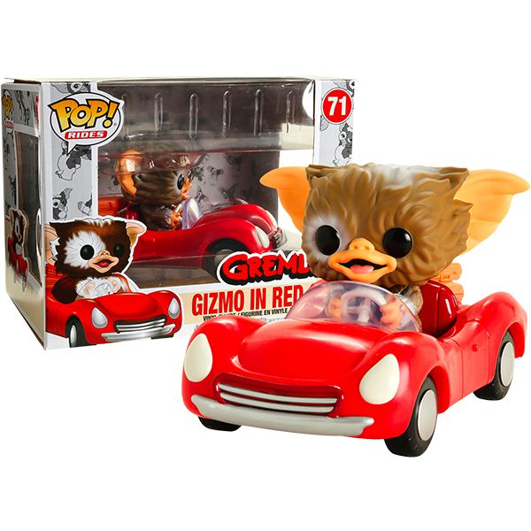 Pop! Rides Gizmo no Carro Vermelho (In Red Car): Gremlins (Exclusive) #71 - Funko