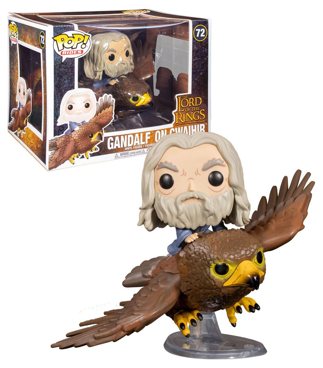 Funko Pop! Rides Gwaihir with Gandalf: O Senhor dos Anéis (The Lord of the Rings) #72 - Funko