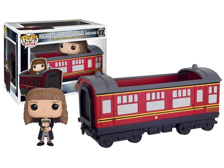 Funko Pop Rides Hermione Granger com Transporte (Hogwarts Express Carriage):Trem Harry Potter #22 - Funko
