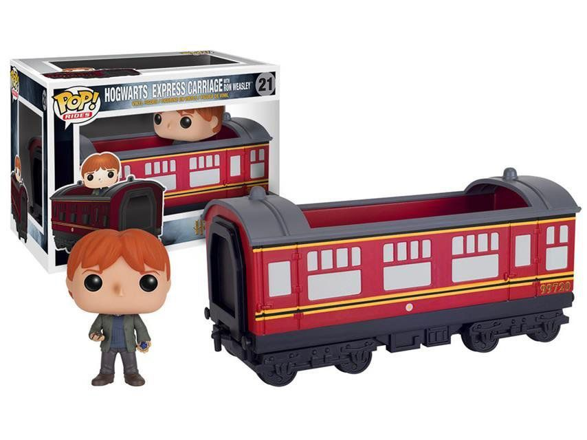 Funko Pop Rides Ron Weasley com Transporte (Hogwarts Express Carriage): Trem Harry Potter #21 - Funko
